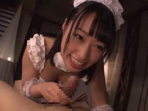 メイドコスの痴女エステティシャンによるフェラ&アナル舐め集中コース!
